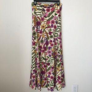 Lularoe Floral Print Maxi Skirt Size Small